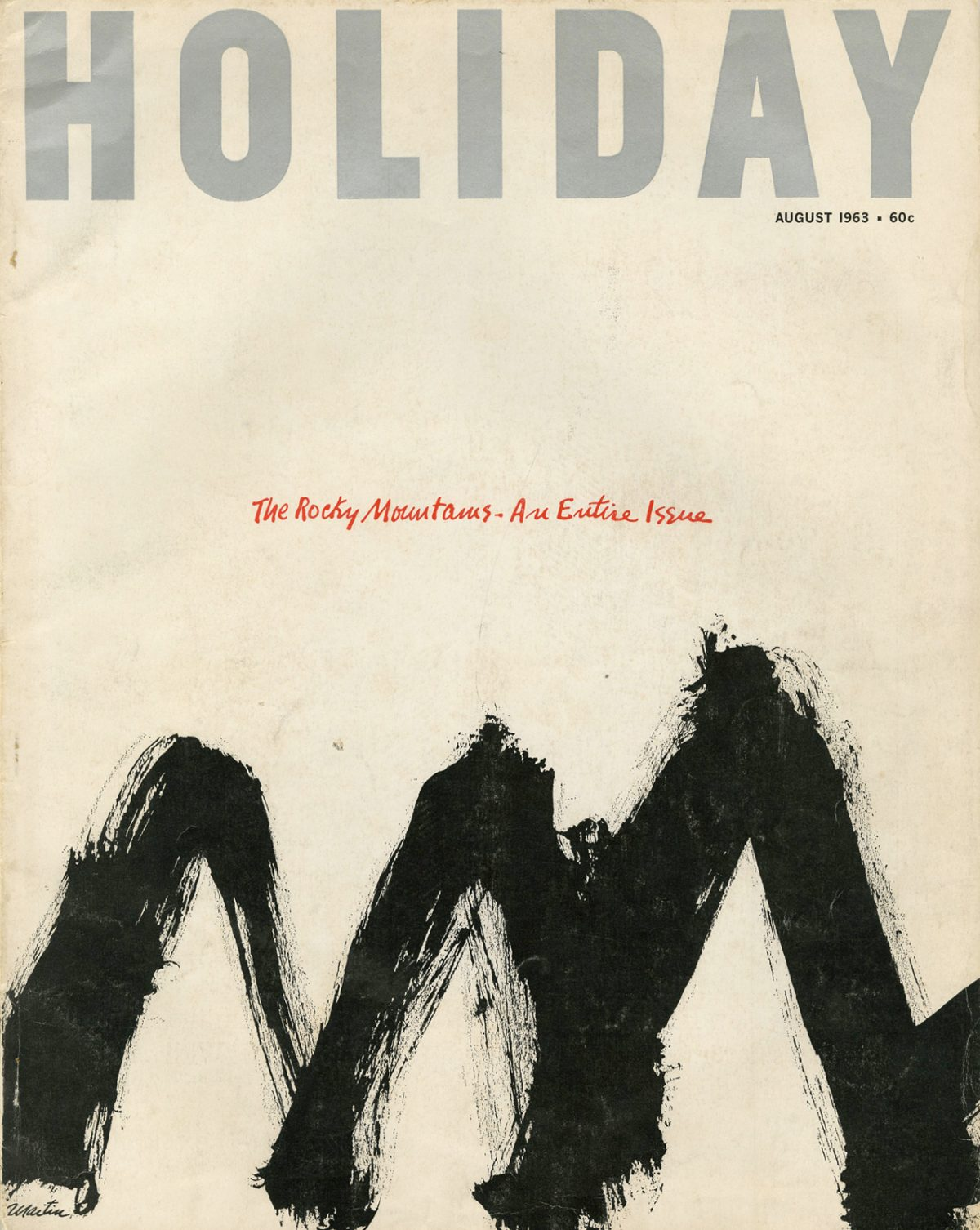 Holiday, August 1963. Cover artwork by Samuel Maitin.